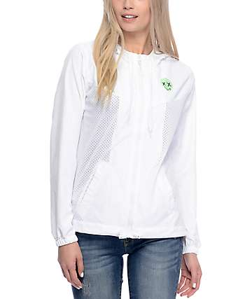 A-Lab Leda Alien White Mesh Windbreaker Jacket