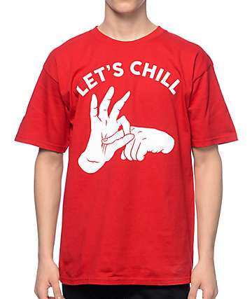 A-Lab Let's Chill Red T-Shirt