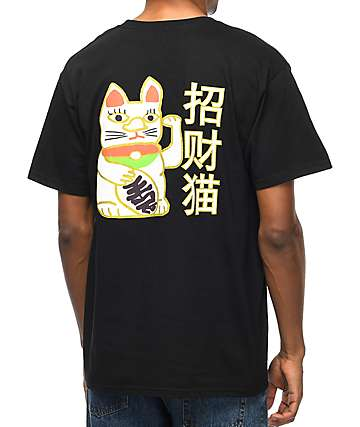 A-Lab Lucky Cat Black T-Shirt