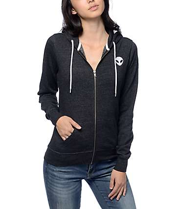 A-Lab Matilda Alien Black Zip Up Hoodie