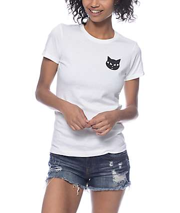 A-Lab Meow Chest & Back White T-Shirt