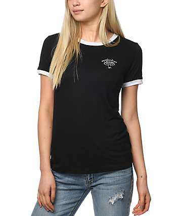 A-Lab Moody Anywhere Alien camiseta ringer en negro