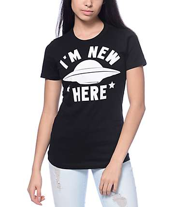 A-Lab New Here Black T-Shirt