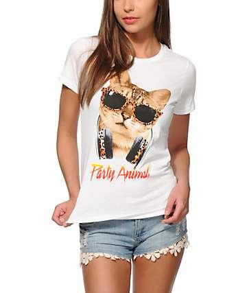 A-Lab Party Animal Cheetah Cat T-Shirt