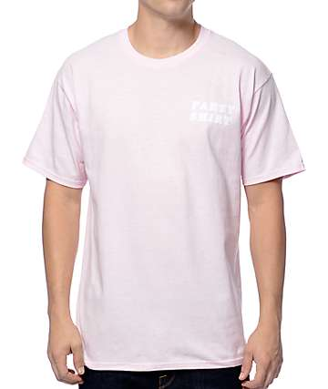 A-Lab Party Shirt Flocked Light Pink T-Shirt