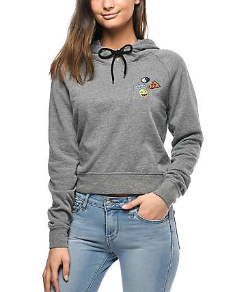 A-Lab Patricia Emjoi Patch Grey Hoodie