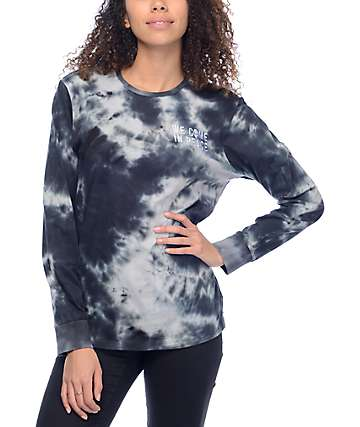 A-Lab Peace Black & White Tie Dye Long Sleeve T-Shirt