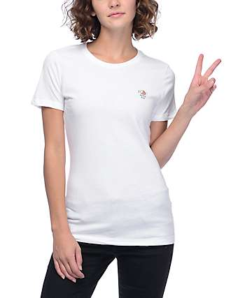 A-Lab Peace Out White Boyfriend T-Shirt