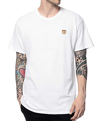 A-Lab Peach Embroidery White T-Shirt