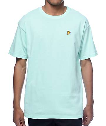 A-Lab Pizza Embroidered Mint T-Shirt