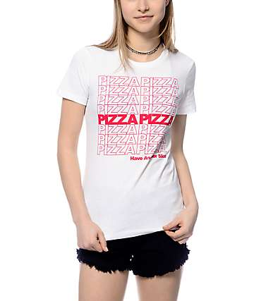 A-Lab Pizza Repeat White T-Shirt