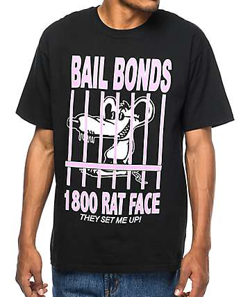 A-Lab Rat Face Bonds Black T-Shirt