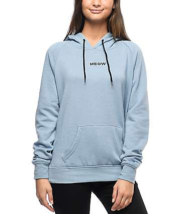 A-Lab Saleh Kitty Elbow Patch Blue Hoodie