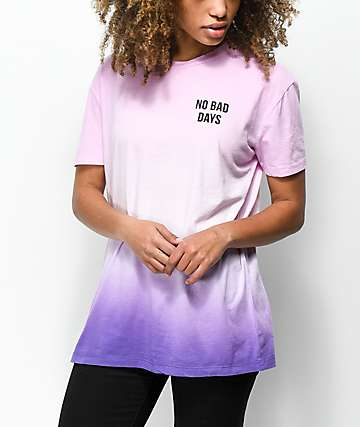 A-Lab Shannon Pink & Purple Ombre Tie Dye T-Shirt