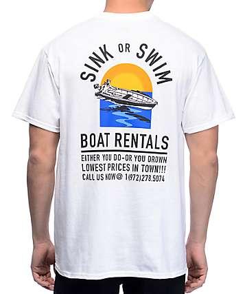 A-Lab Sink Or Swim White T-Shirt