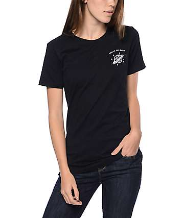 A-Lab Space Or Bust Boyfriend Black T-Shirt