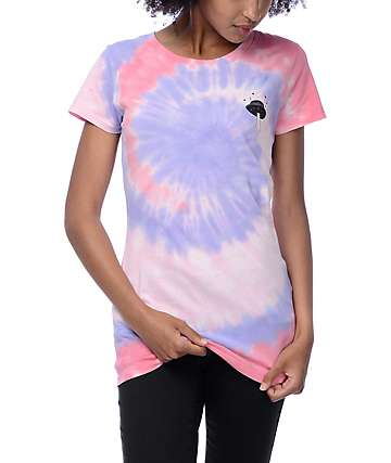 A-Lab Spaceship Red Tie Dye Boyfriend T-Shirt
