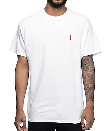 A-Lab Spicy Hot Embroidery White Short Sleeve T-Shirt