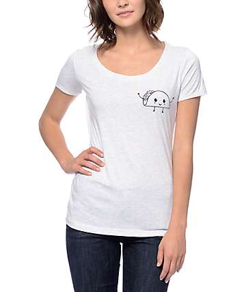 A-Lab Taco Greeting Grey Scoop T-Shirt