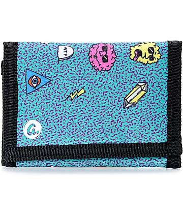 A-Lab Thereitis Teal Tri Fold Wallet