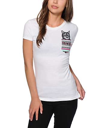 A-Lab Tribal Pocket & Cat Face T-Shirt