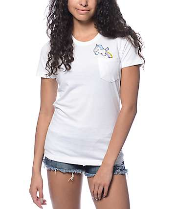 A-Lab Unicorn Poop White T-Shirt