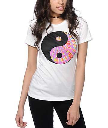 A-Lab Yin Yang camiseta teñida anudado