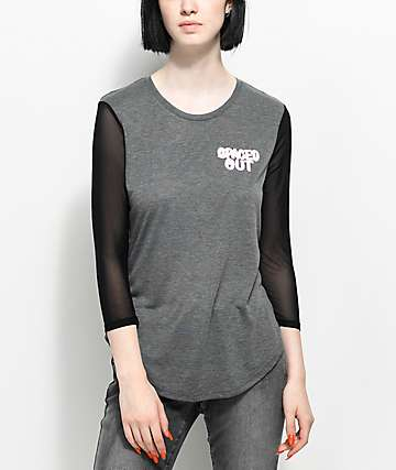 A-Lab Zanna Youre Weird Mesh Sleeved T-Shirt