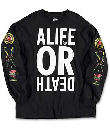 A-Life Life After Long Sleeve Black T-Shirt