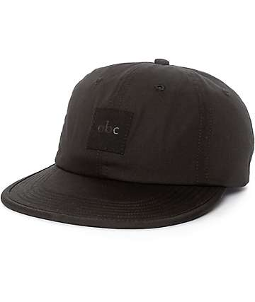 ABC Hat Co. Train Black Strapback Hat