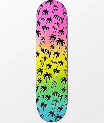 "ATM Black Rainbow 8.0""  Skateboard Deck"
