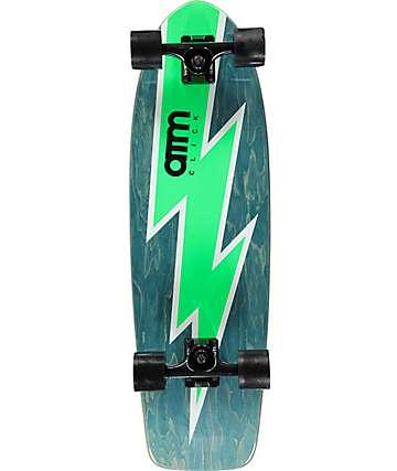 """ATM Bolt Green 29"""" Cruiser Complete Skateboard"""