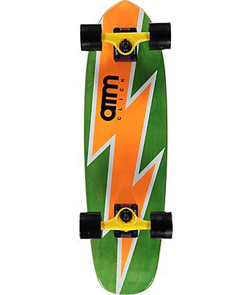 "ATM Bolt Orange 27""  Cruiser Complete Skateboard"