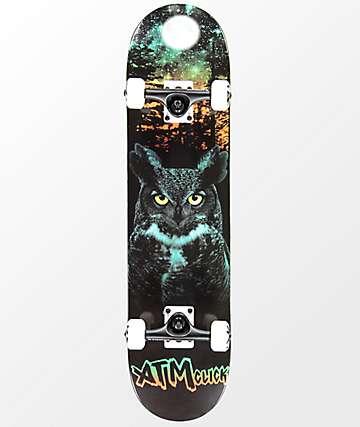 "ATM Lone Spirit Owl 7.75"" Complete Skateboard"