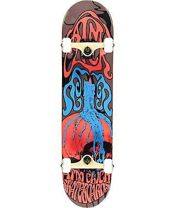 """ATM Skull Candle 7.75"""" Skateboard Complete"""