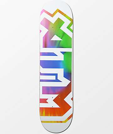 """ATM White Tie Dye 7.75"""" Skateboard Deck"""