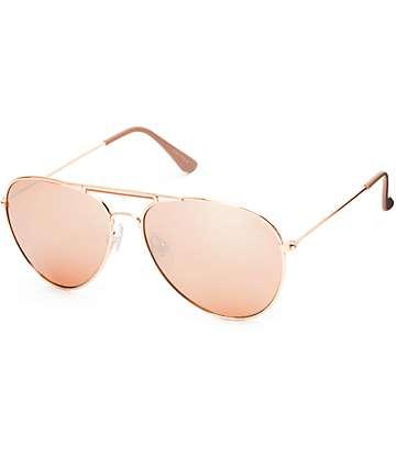 Accomplice Rose Gold Aviator Sunglasses