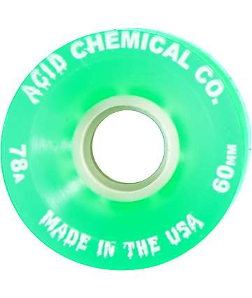 Acid Chemical Co Classic Funner 60mm 78a Green Longboard Wheels