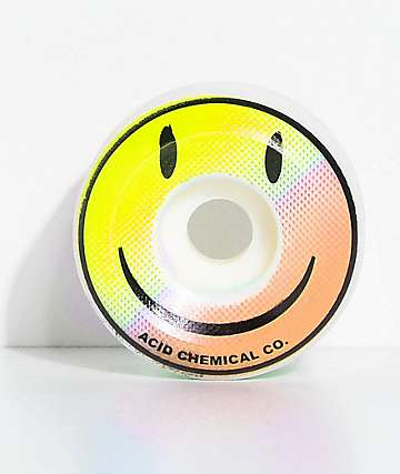 Acid Chemical Co. Smile 54mm Pink & Blue Skateboard Wheels