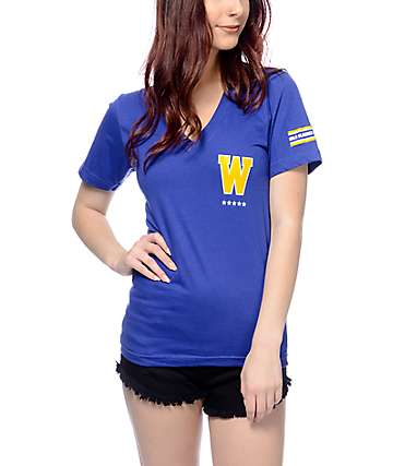 Adapt Clothing CA-Royal Womens V-Neck T-Shirt