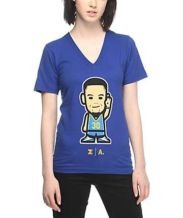Adapt Warriors Curry Emoji Blue T-Shirt