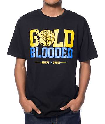Adapt x Cukui Gold Blooded Black T-Shirt