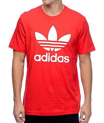 Adidas Original Trefoil camiseta roja