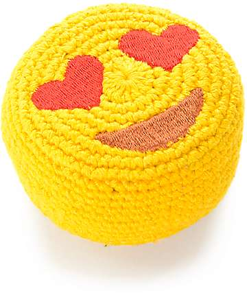 Adventure Imports Emoji Heart Eyes Footbag