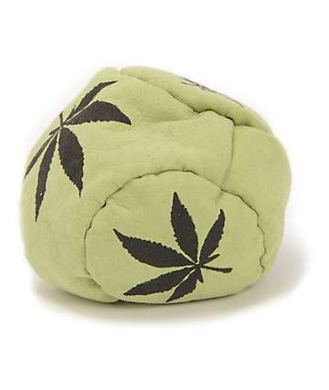 Adventure Imports Green Leaf Black & Green 5 Panel Hacky Sack