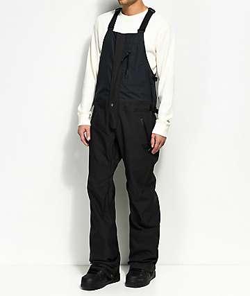 Airblaster Krill Vintage Black Stretch 15K Snowboard Bib Pants