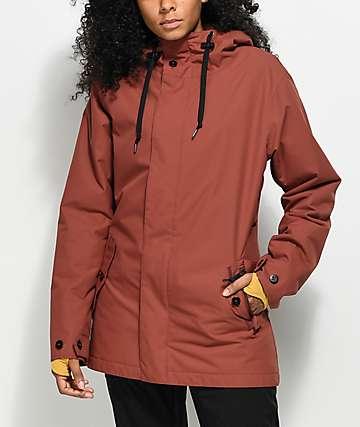 Airblaster Posh Parka Oxide Red 15K Snowboard Jacket