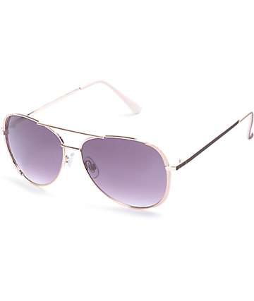 Airmail Blush Aviator Sunglasses