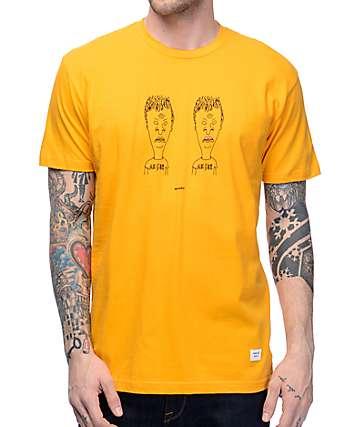 Akomplice Butthead & Butthead Gold T-Shirt