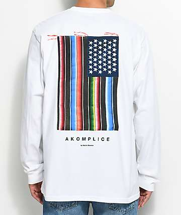 Akomplice Mi Bandera White Long Sleeve T-Shirt